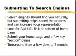 submitting to search engines