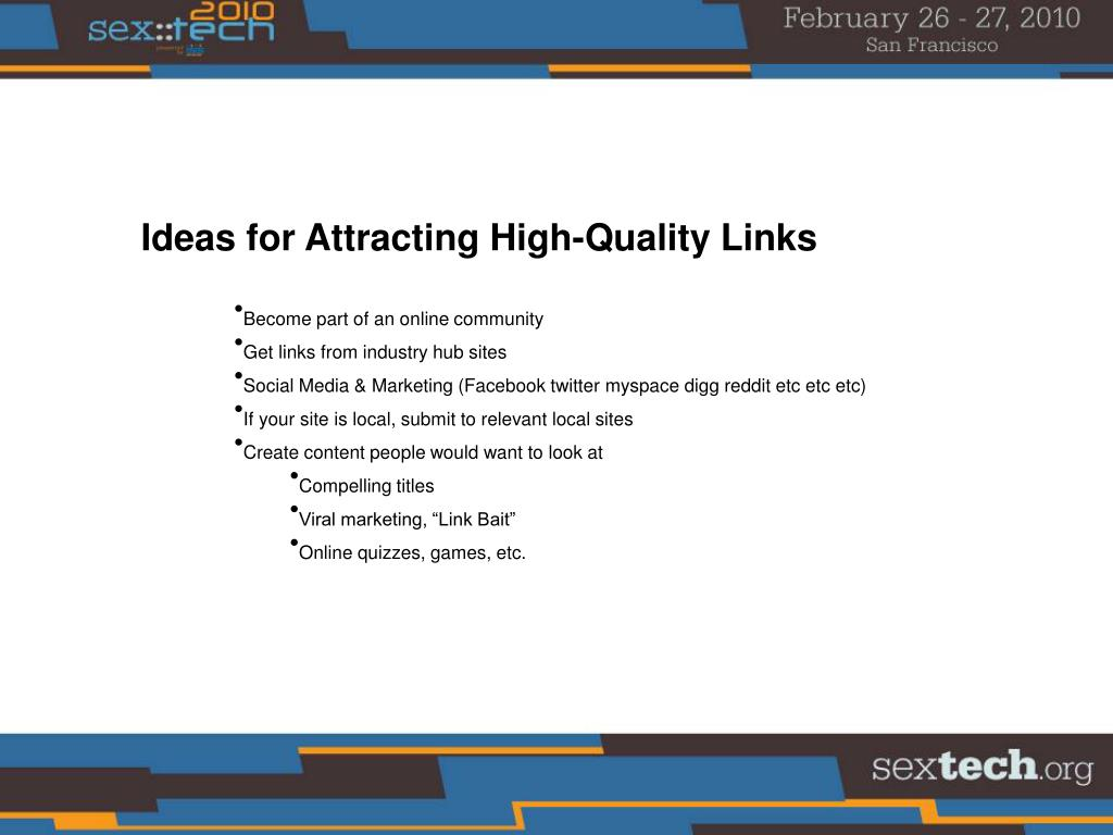 Ideas for Attracting High-Quality Links