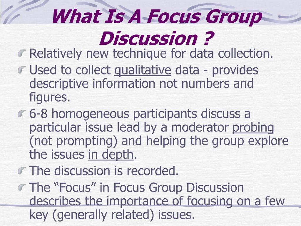 What Is A Focus Group Discussion ?