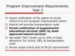 program improvement requirements year 2