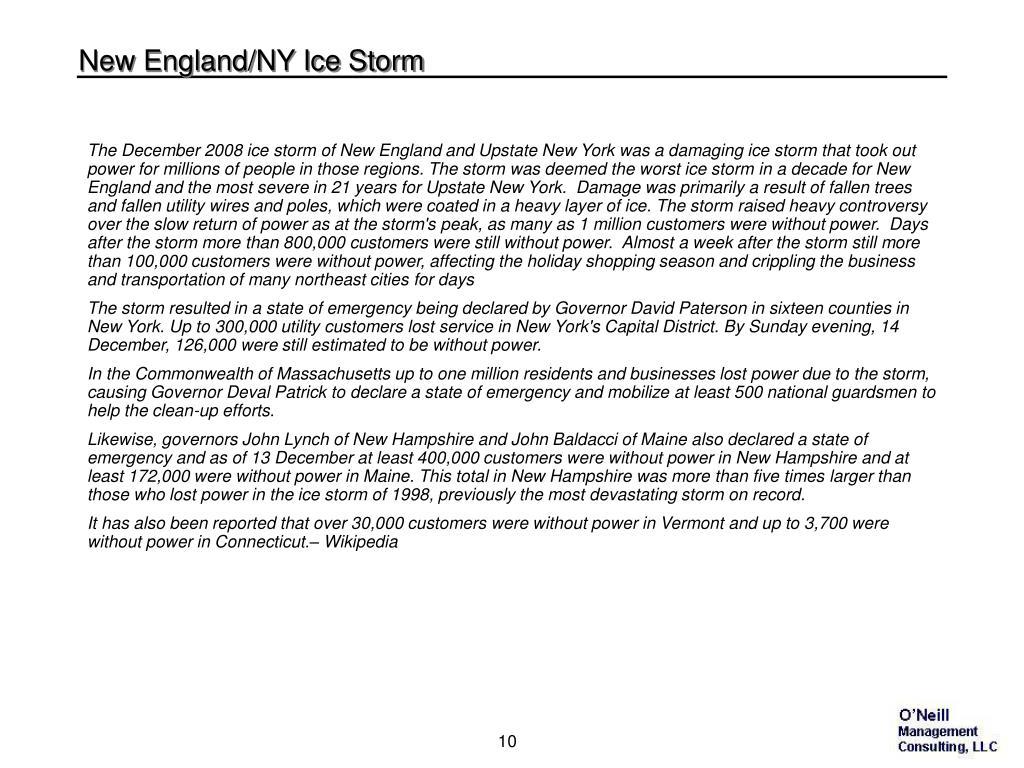 New England/NY Ice Storm