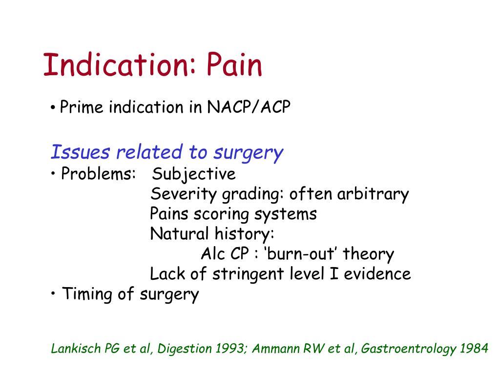 Indication: Pain