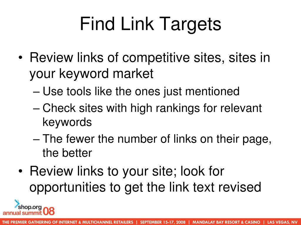 Find Link Targets