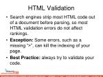 html validation