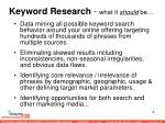 keyword research what it should be