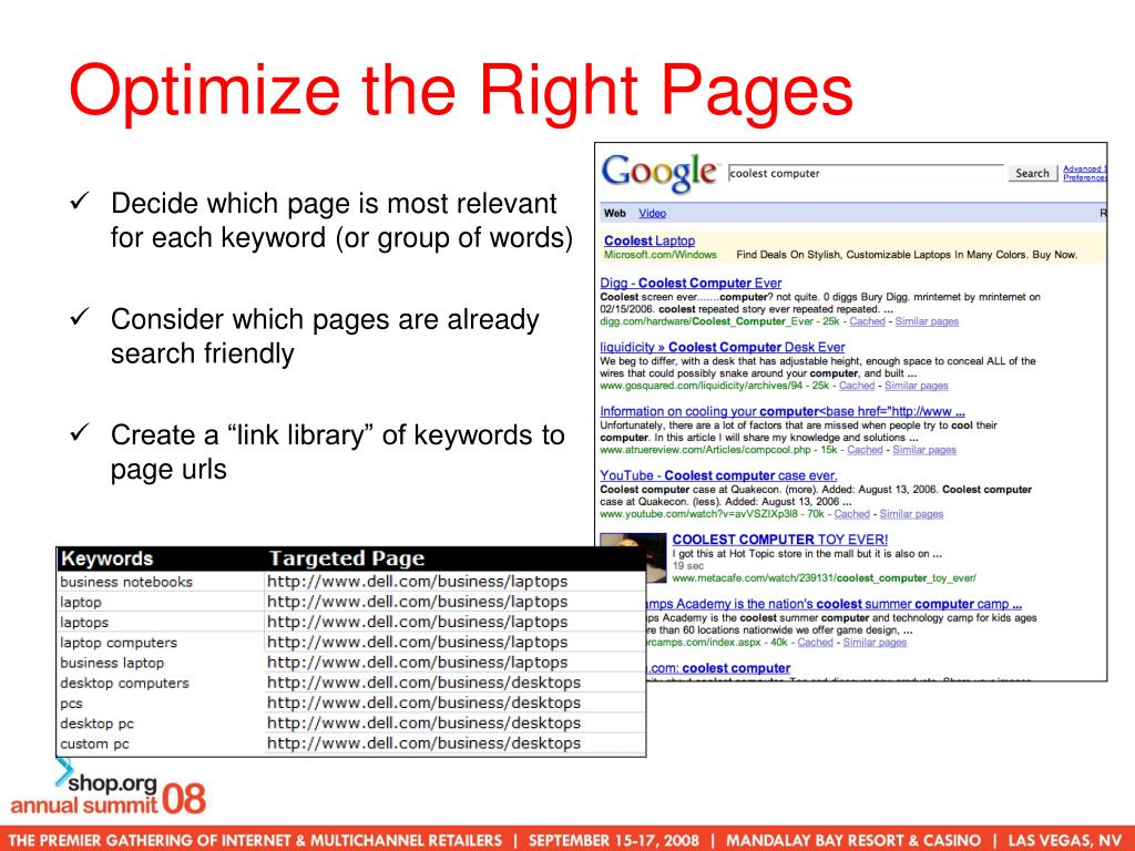 Optimize the Right Pages