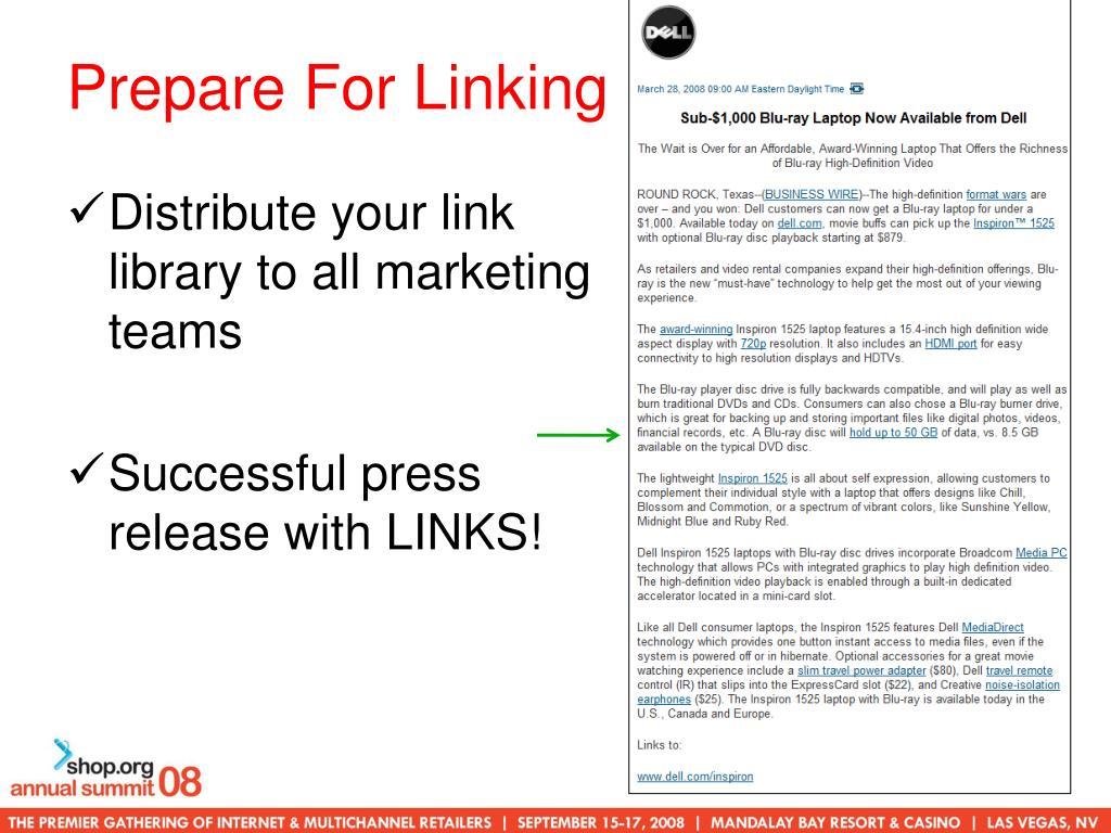 Prepare For Linking