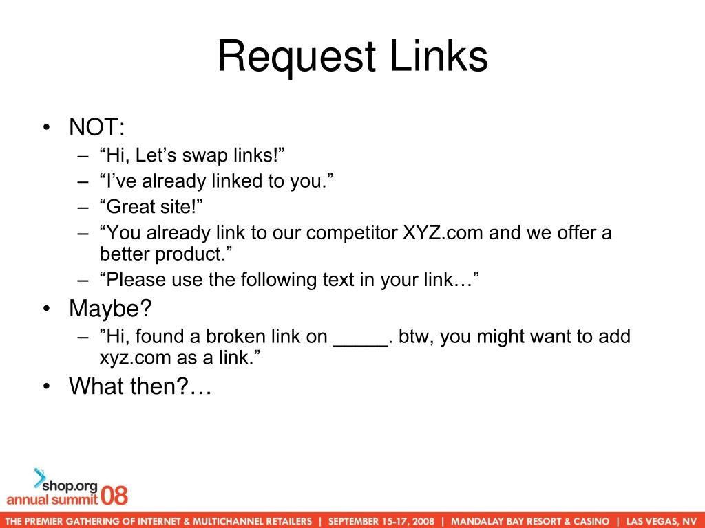 Request Links