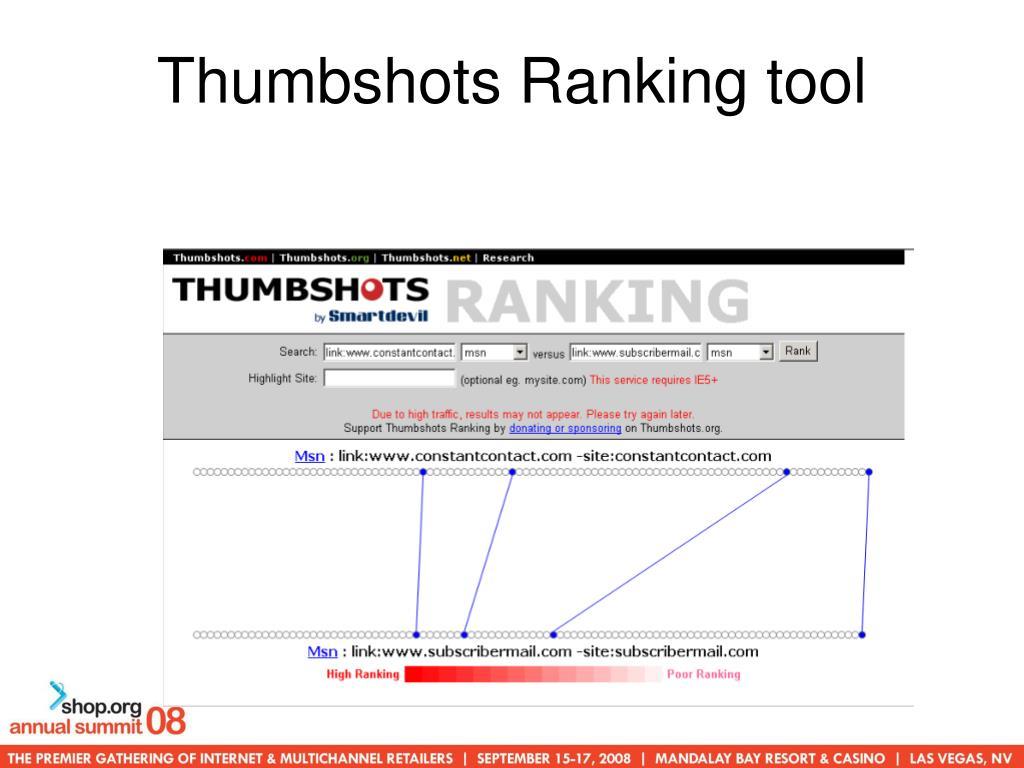 Thumbshots Ranking tool