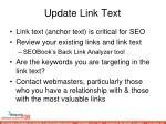 update link text