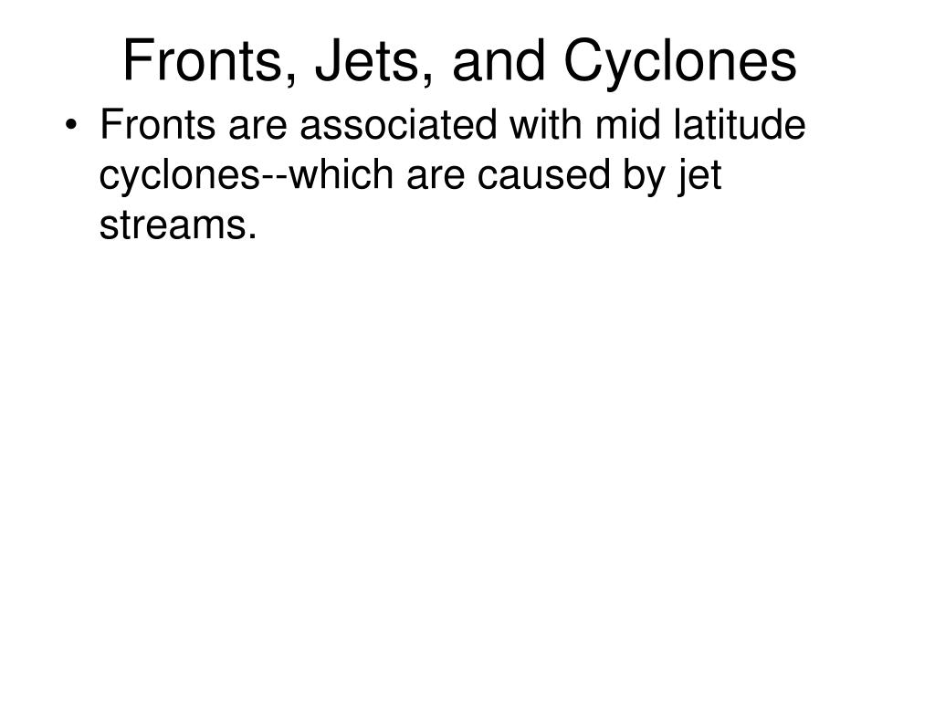 Fronts, Jets, and Cyclones