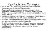 key facts and concepts