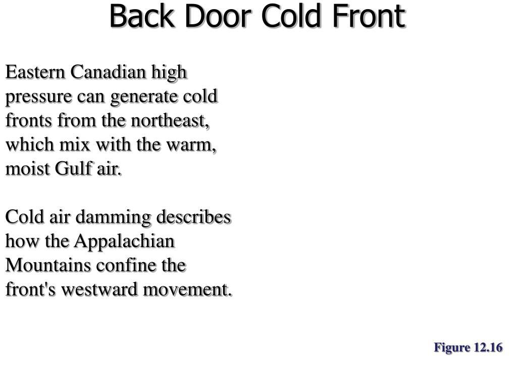 Back Door Cold Front