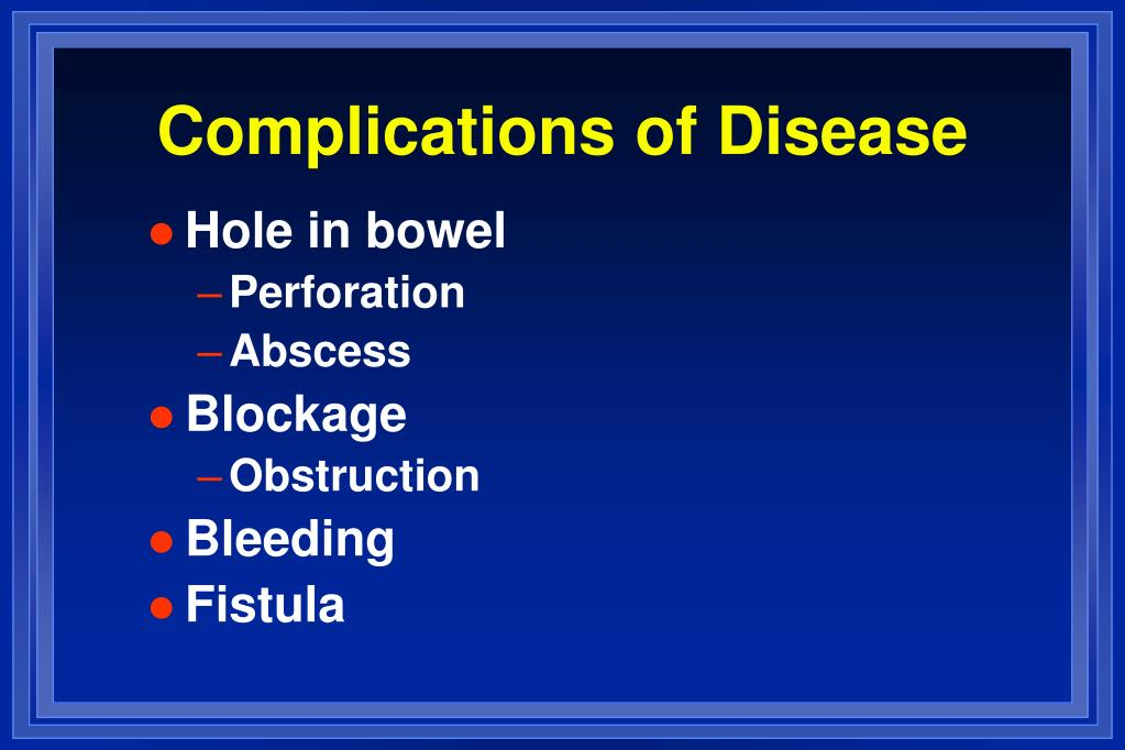 Complications of Disease