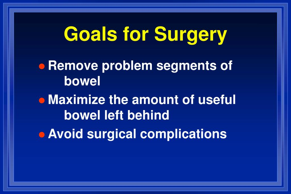 Goals for Surgery