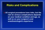 risks and complications