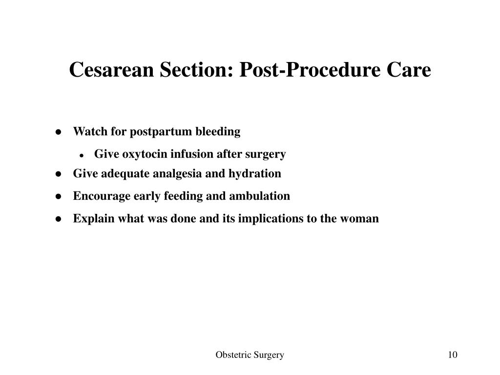 Cesarean Section: Post-Procedure Care