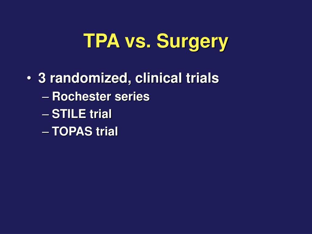 TPA vs. Surgery