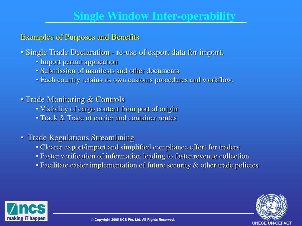 Single Window Inter-operability