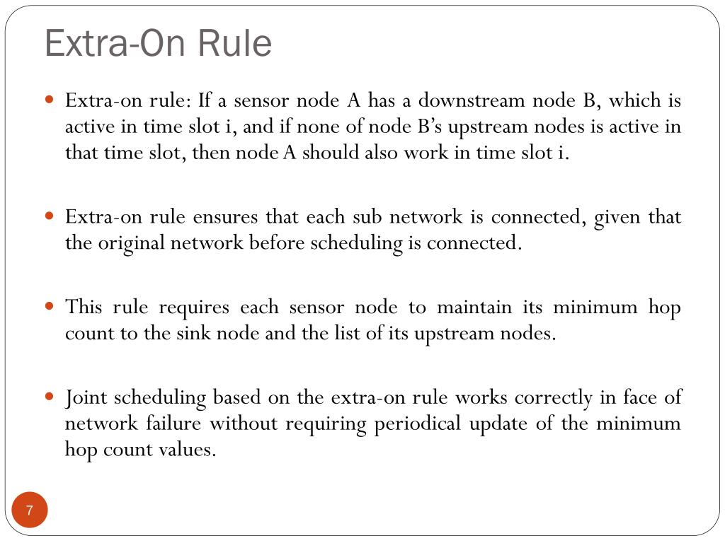 Extra-On Rule