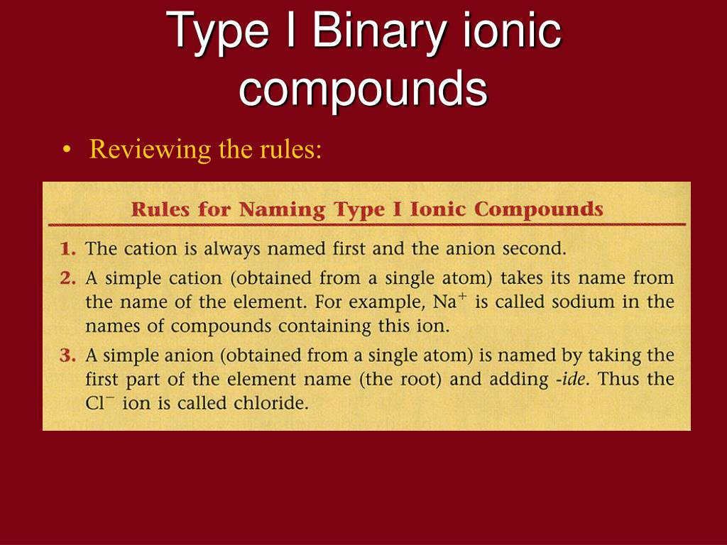 Name these binary compounds of two nonmetals