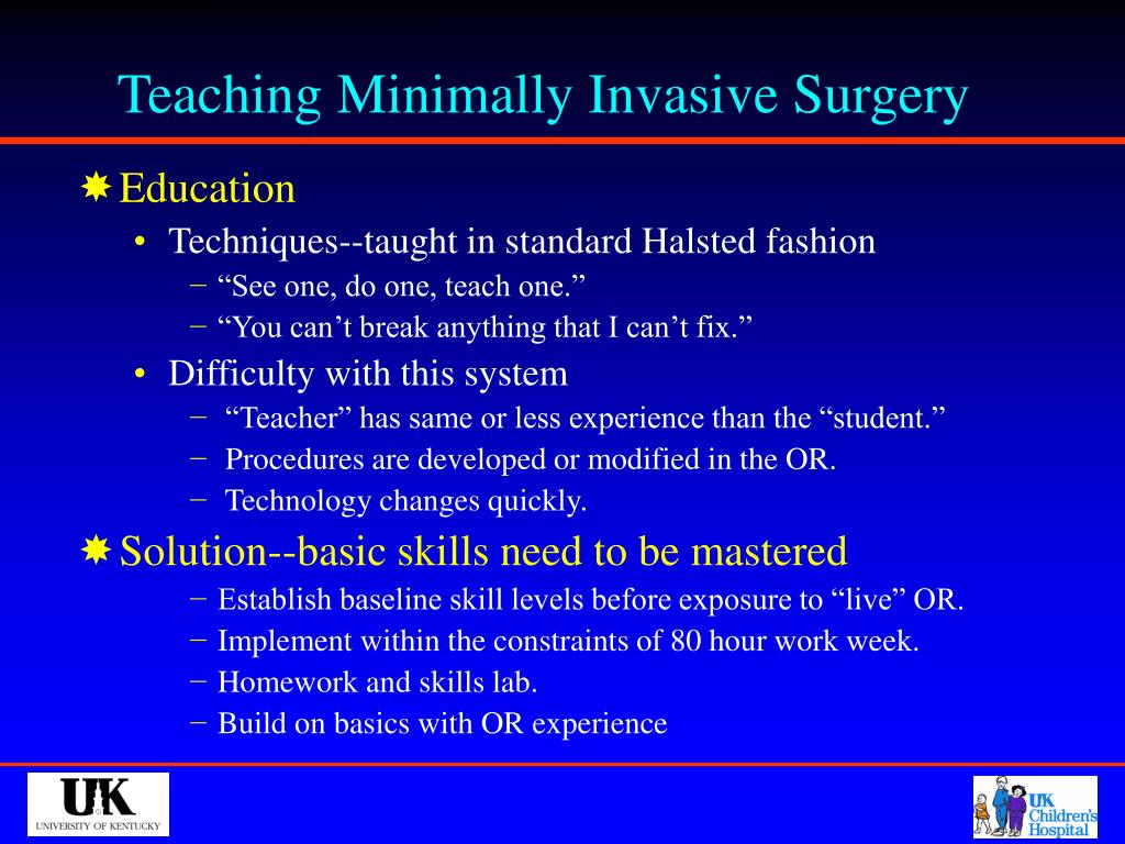 Teaching Minimally Invasive Surgery