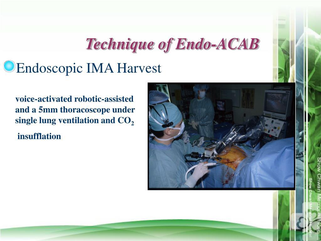 Technique of Endo-ACAB