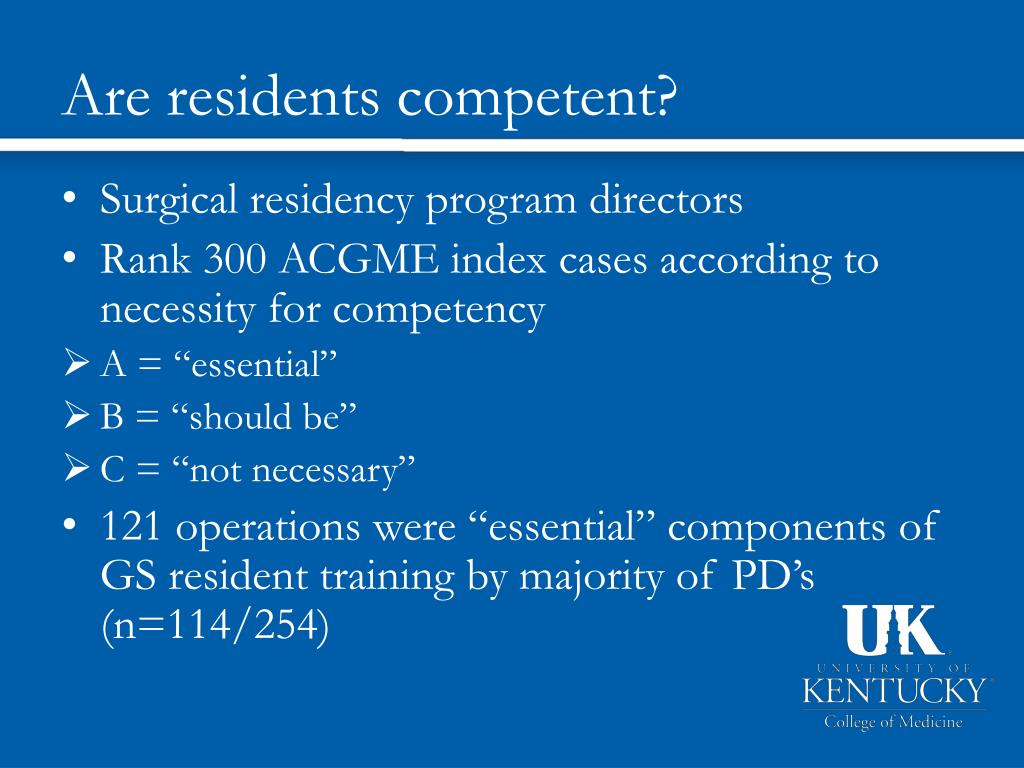 Are residents competent?