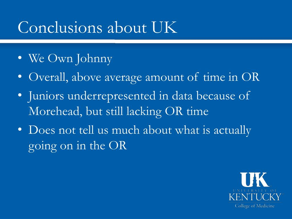 Conclusions about UK