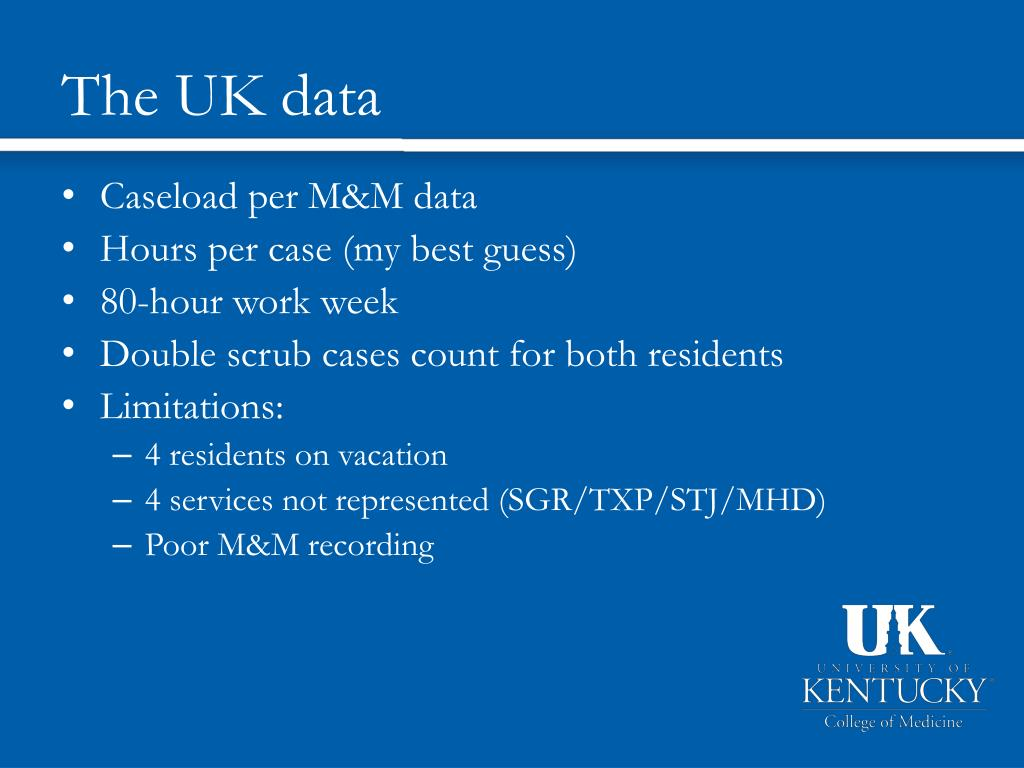 The UK data