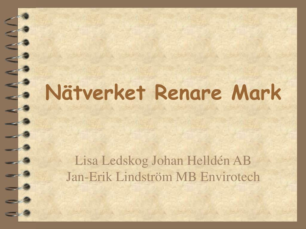 Nätverket Renare Mark