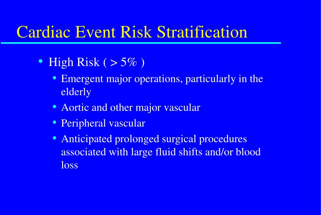 Cardiac Event Risk Stratification