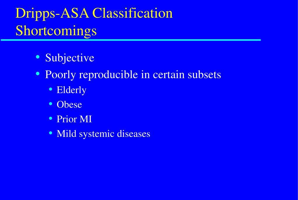 Dripps-ASA Classification