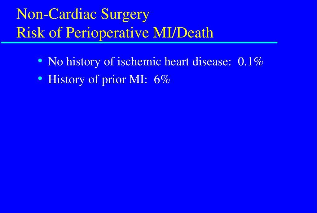 Non-Cardiac Surgery