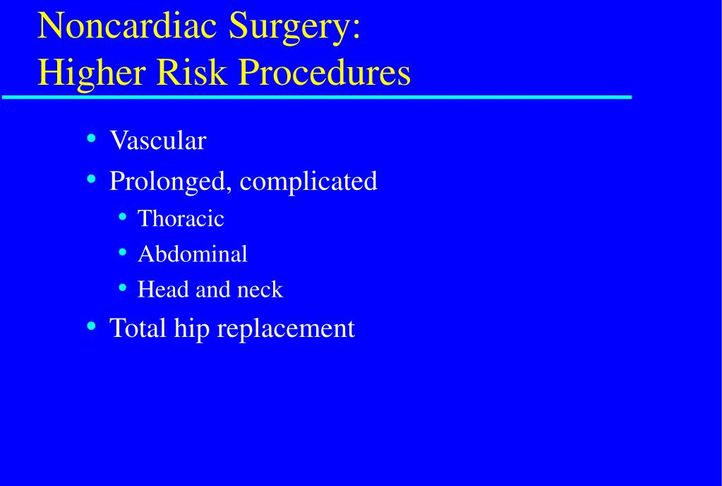 Noncardiac Surgery: