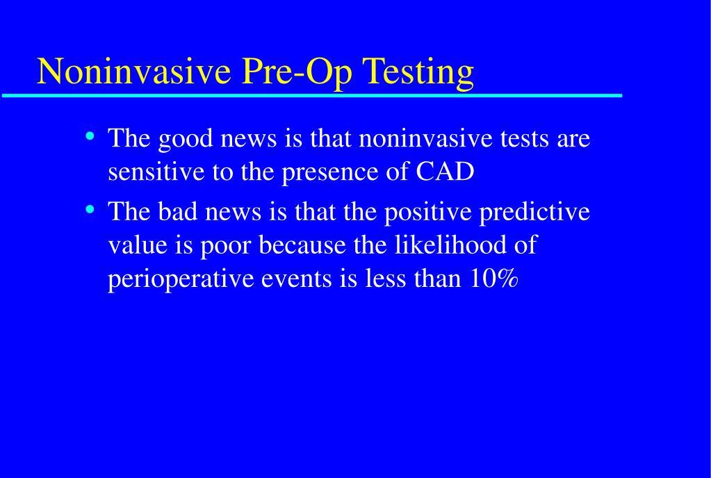 Noninvasive Pre-Op Testing
