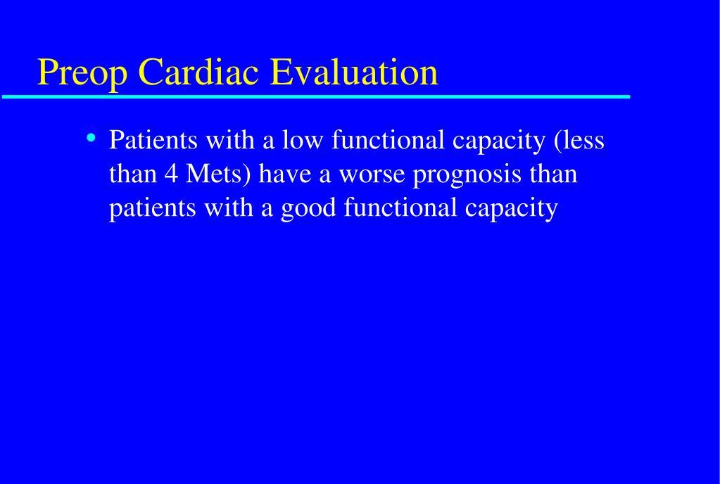 Preop Cardiac Evaluation