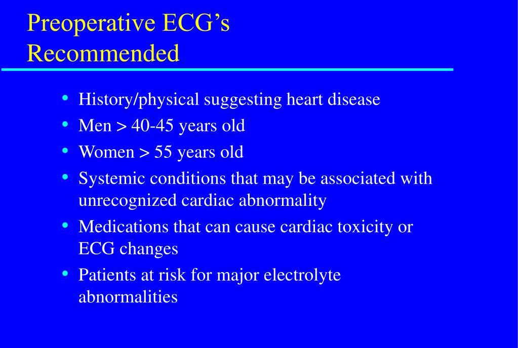 Preoperative ECG's