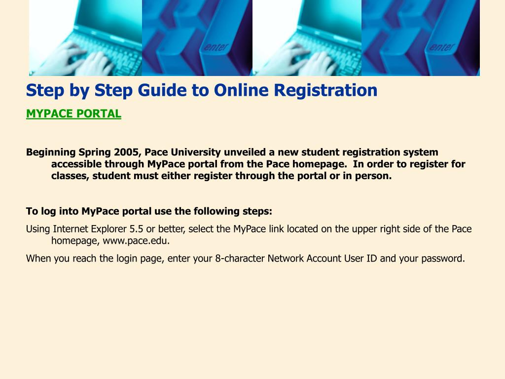 Step by Step Guide to Online Registration