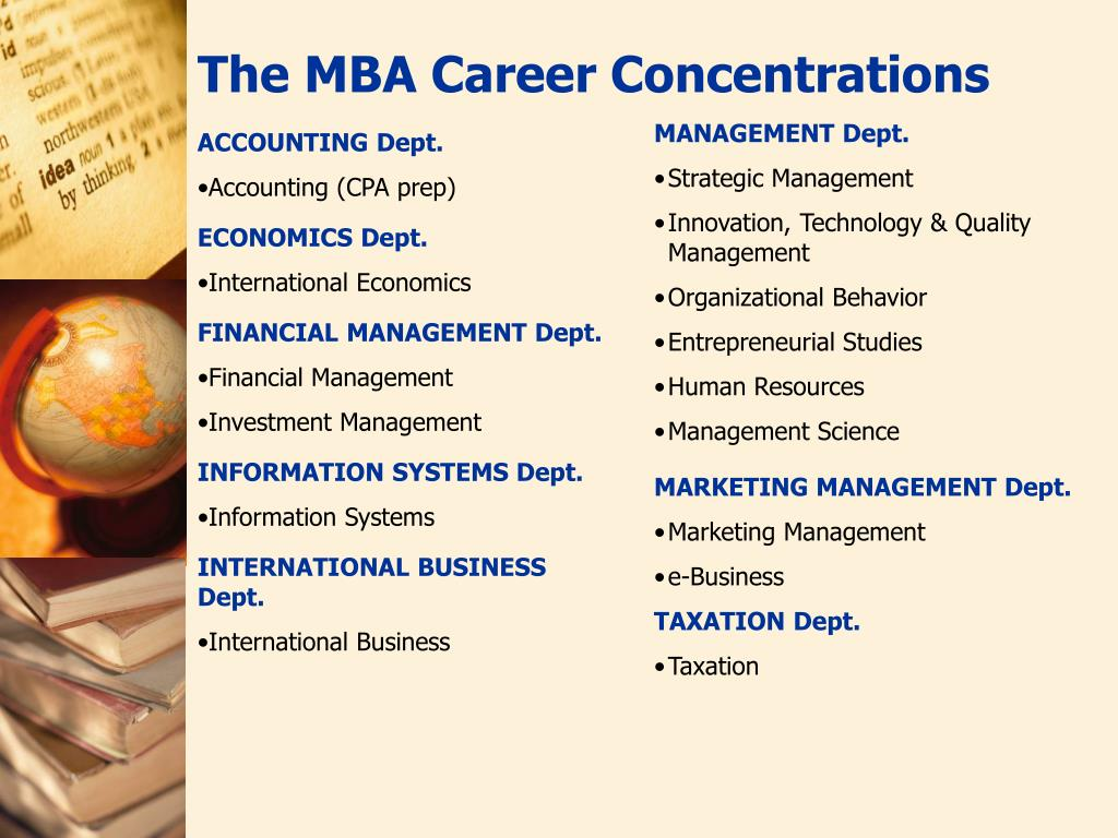 The MBA Career Concentrations