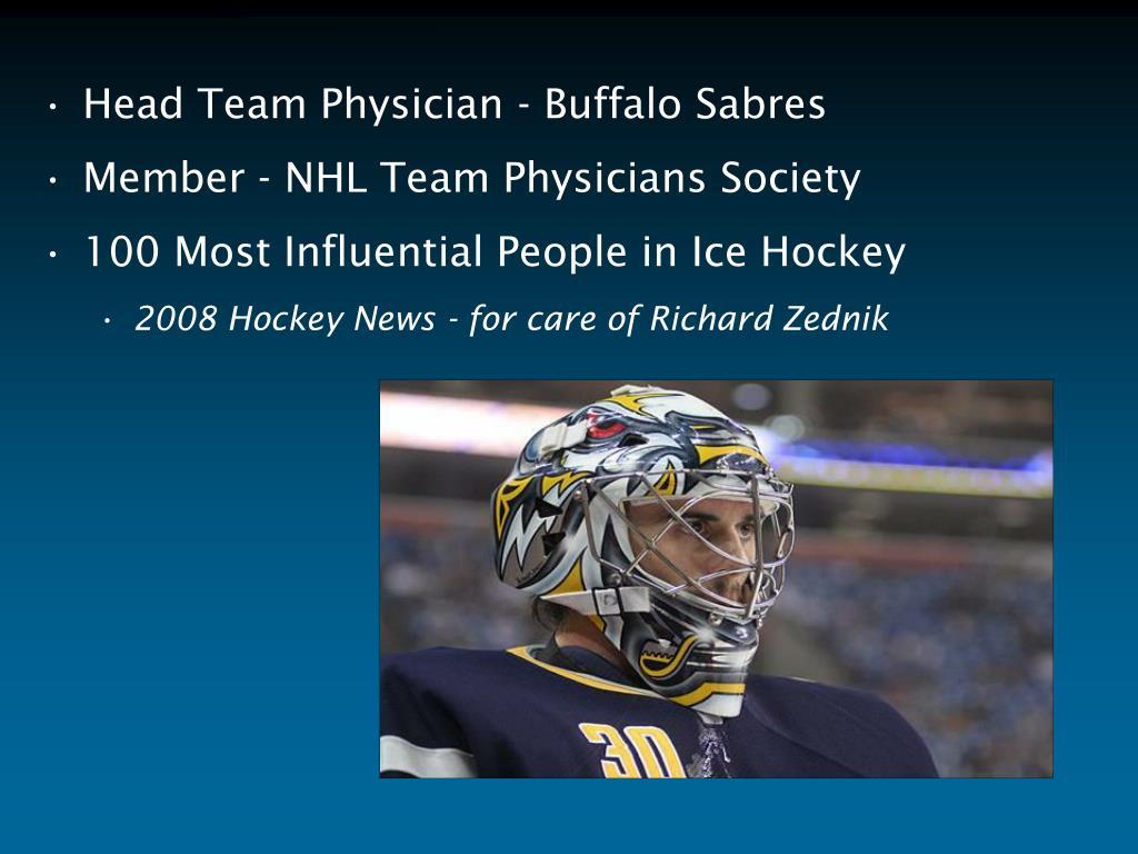 Head Team Physician - Buffalo Sabres
