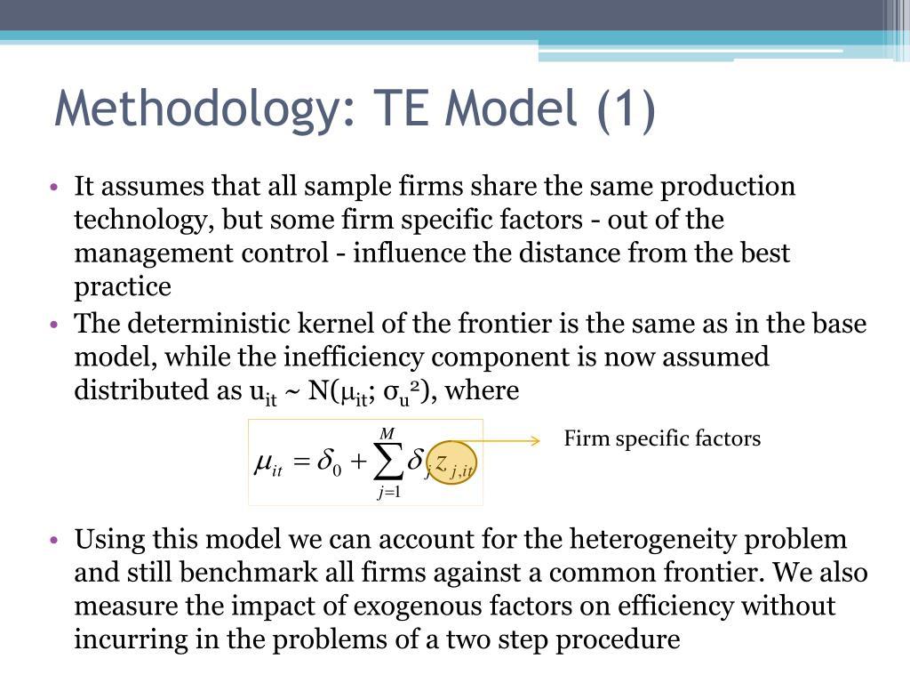 Methodology: TE Model (1)