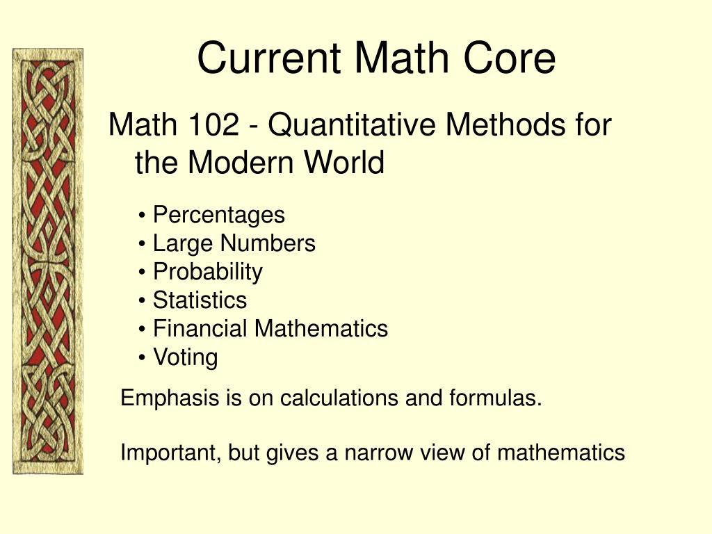 Current Math Core