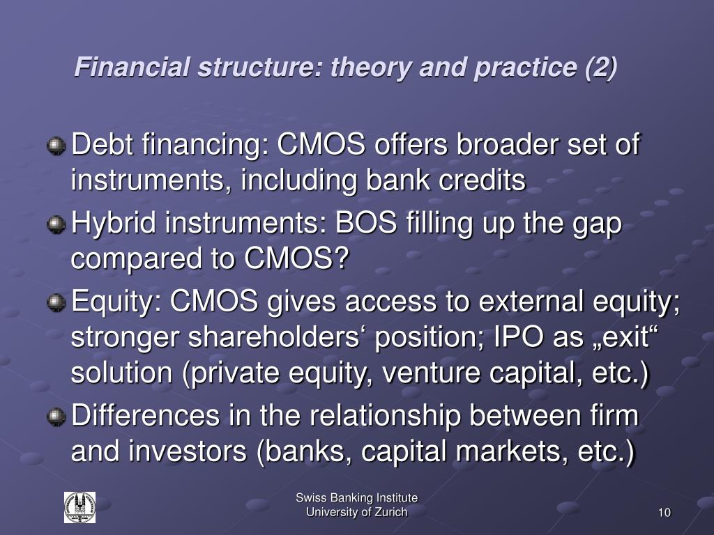 Financial structure: theory and practice (2)