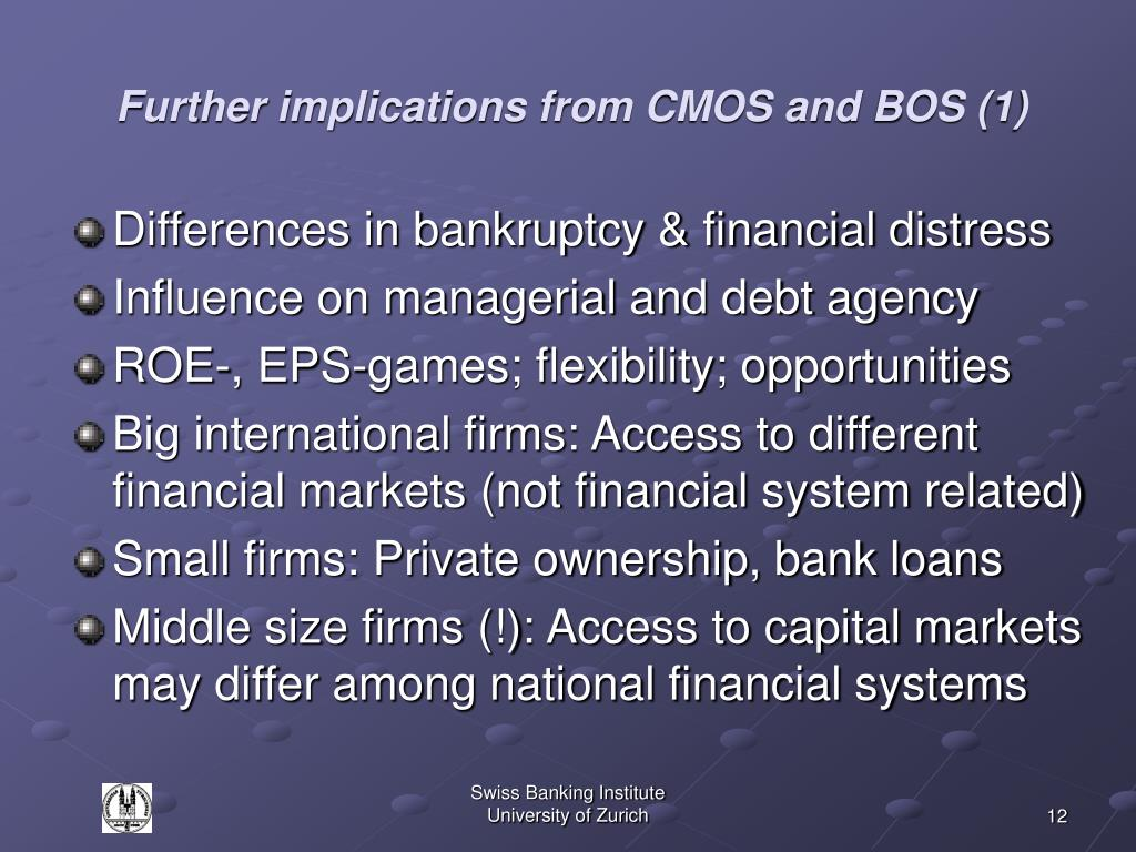 Further implications from CMOS and BOS (1)