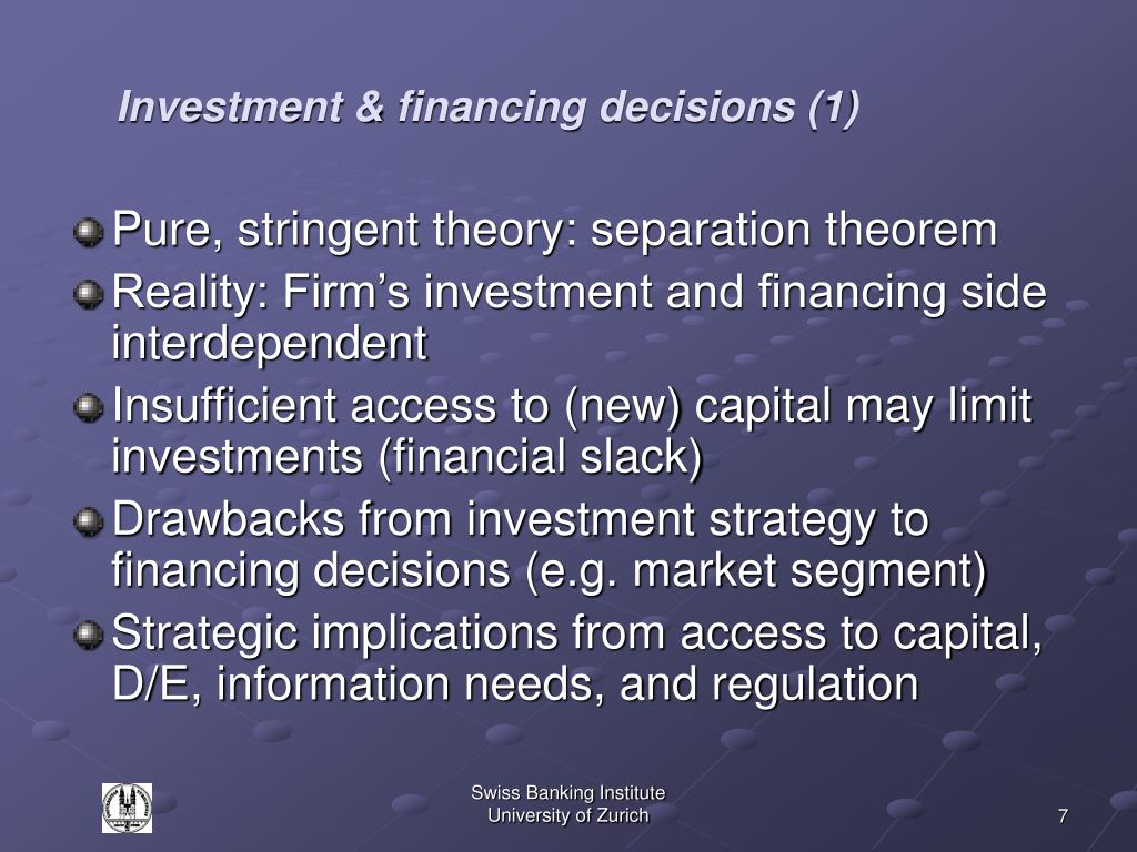 Investment & financing decisions (1)