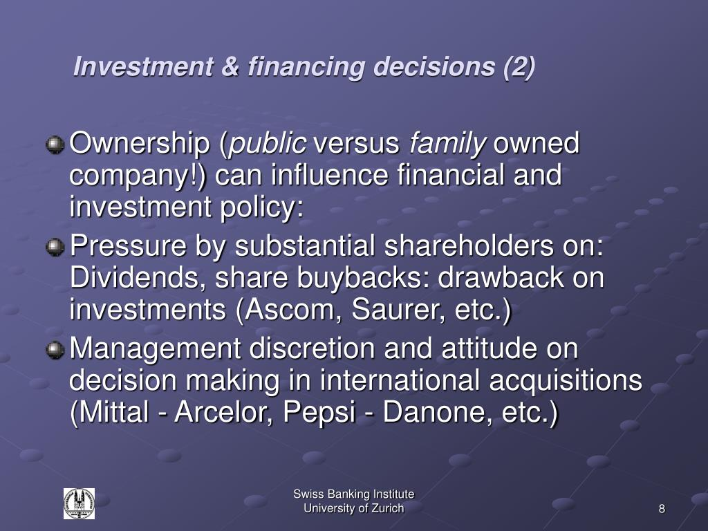 Investment & financing decisions (2)