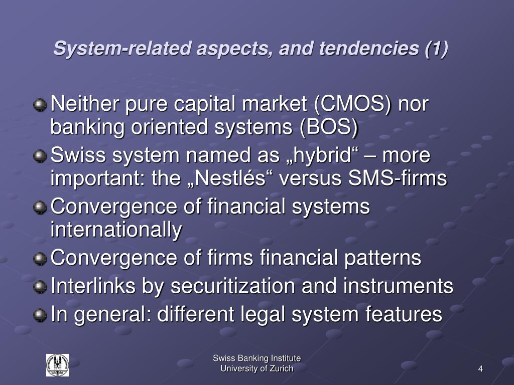System-related aspects, and tendencies (1)