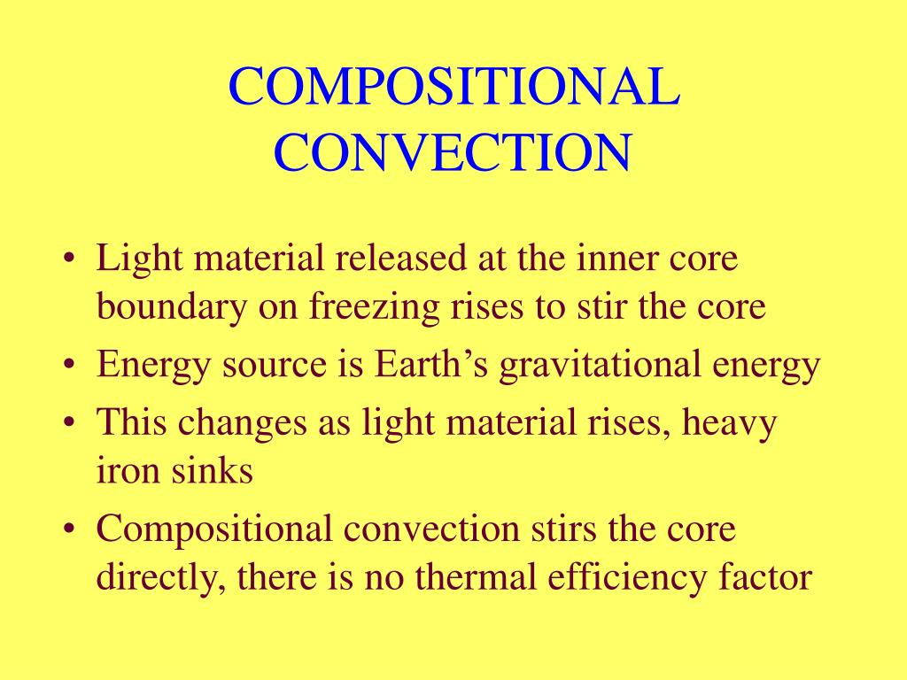COMPOSITIONAL CONVECTION