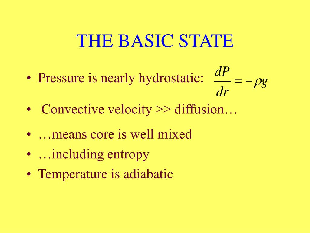 THE BASIC STATE